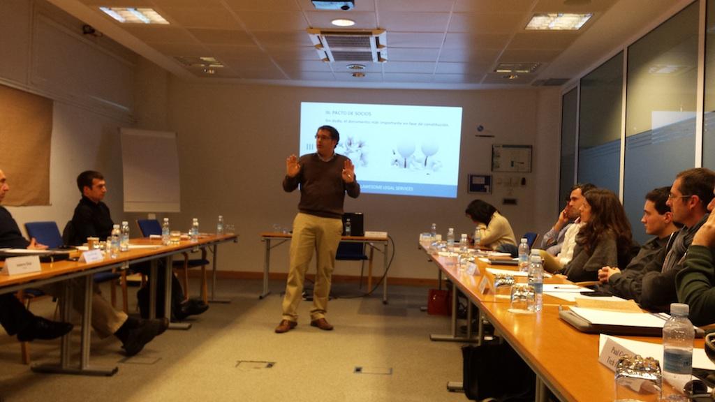 Taller: Lanzamiento de negocio de la startup y el Pacto de Socios.