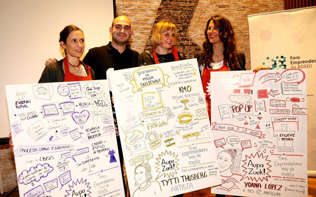 """Crónica del 8º encuentro Aupa Zuek: """"Tres emprendedoras muy de moda"""""""