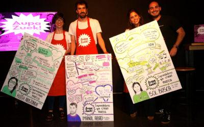 """""""Emprendedores que crean marcas"""" – Crónica Encuentro #AupaZuek"""
