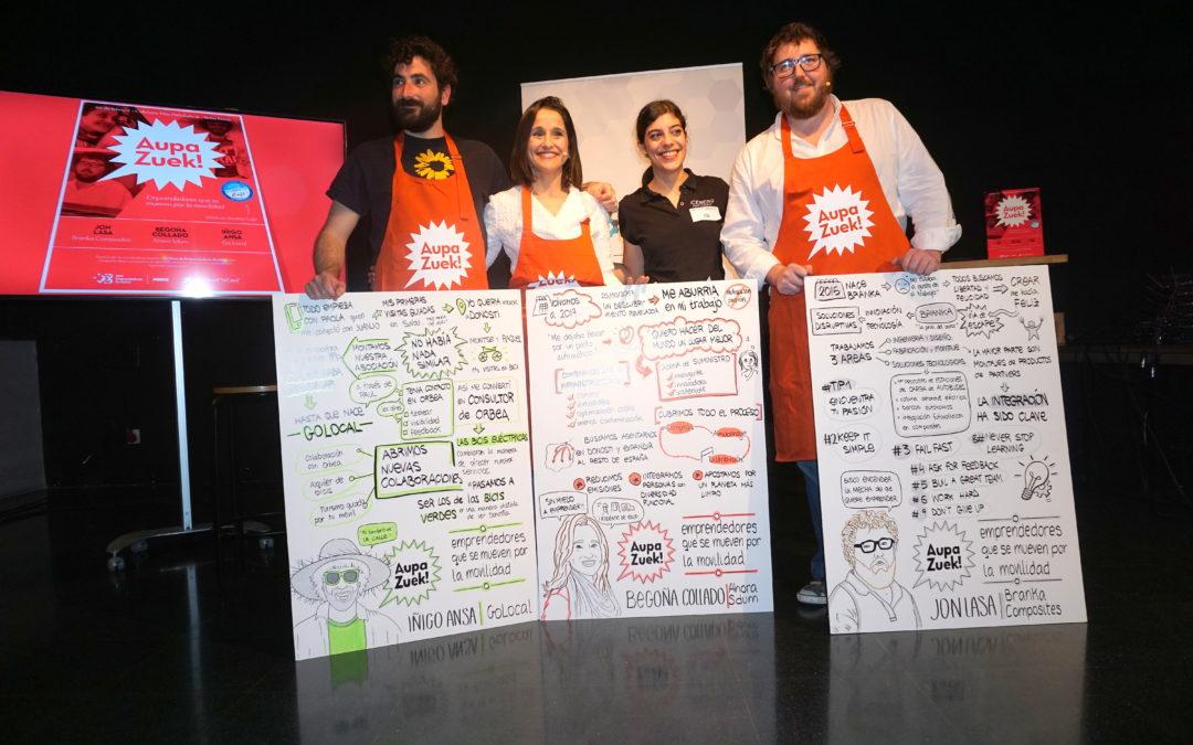 Crónica del 16º Encuentro #AupaZuek: Emprendiendo en Movilidad
